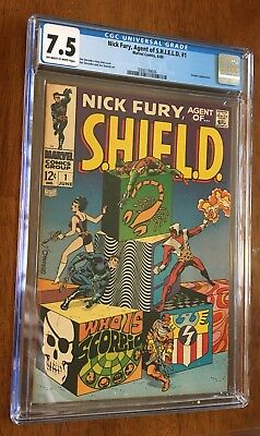 Nick Fury Agent Of Shield 1 CGC 7.5 OW/W Pages Scorpio Appearance