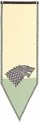"Authentic GAME OF THRONES Stark Winterfell Tournament Banner Flag 18"" x 60"" NEW"