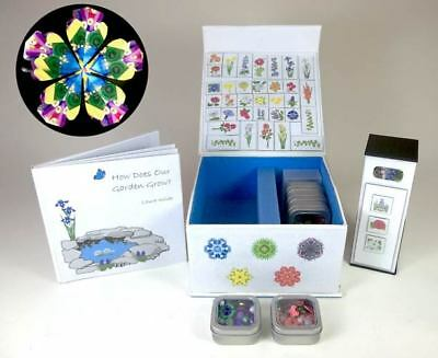"Laura Wilde Kaleidoscope Set with Book, ""How Does Our Garden Grow?"""