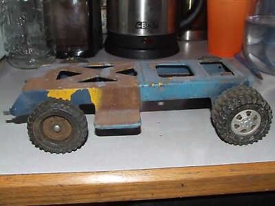 Buckeye/Dunwell Pickup Truck Frame for parts, restore, etc., good tires and hubs