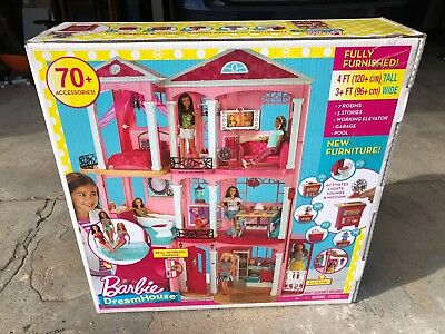 NEW! Barbie DreamHouse Playset With 70+ Accessory Pieces