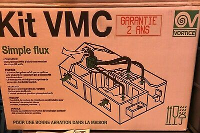 Vortice 11509 Penta Central Extract Multi-Room Fan With Grilles Ducting /& Valves