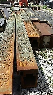 Younkers Support Columns Cast Iron Steel Beams Art Deco Architectural Floral
