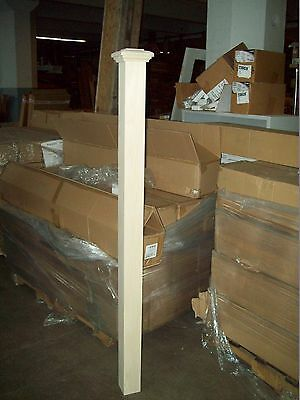 """64"""" LJ SMITH MAPLE STAIRCASE NEWEL POST - NEWnBOX- MODEL 4077- QUICK SHIP"""