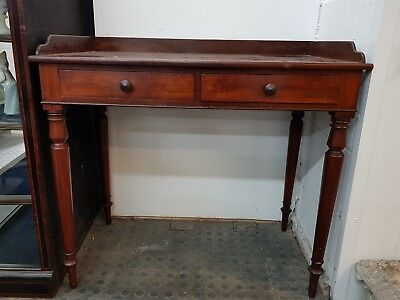 Regency Mahogany Side Table / Desk By Wilkinson of Ludgate Hill circa 1830's