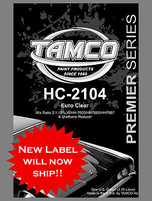 HC2104- QUART KIT 2:1 Euro clear Mix 2:1 with HH76 SERIES HARDENERS 10%reduction