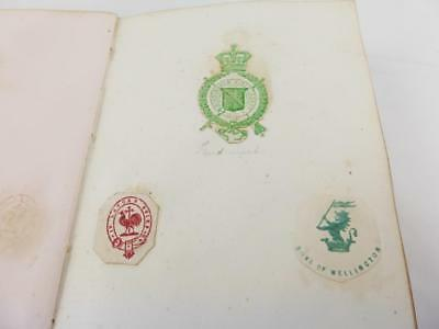 Antique Victorian Edwardian Album Of 196 Embossed Monograms Crests Coats of Arms