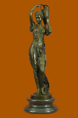 Hand Made Bronze Sculpture Large Maiden Roman/Greek Style Office Decoration