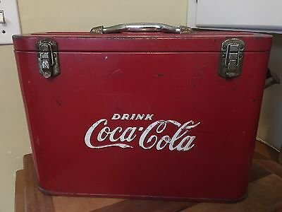 Vintage 1950's COCA COLA Airline Cooler w/ Bottle Opener