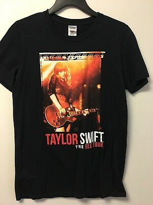 Womens (S) TAYLOR SWIFT Red Tour SS Black Concert T-Shirt