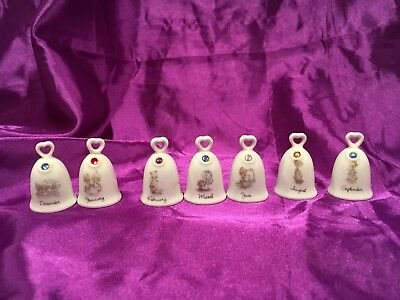 Precious Moments Birthday Bells LOT OF 7