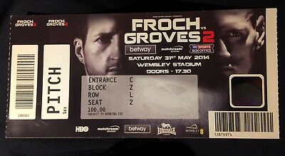 froch v groves 2 used ticket