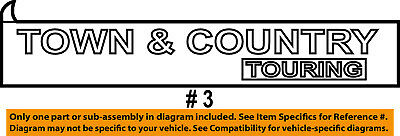 CHRYSLER OEM Town Country Liftgate Tailgate Emblem Badge chrysler town and country lift gate schematic trusted wiring diagrams