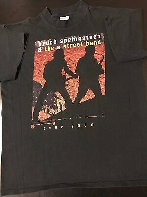 2000 Bruce Springsteen E Street Band XL Concert Tour T-Shirt Rock Guitar USA