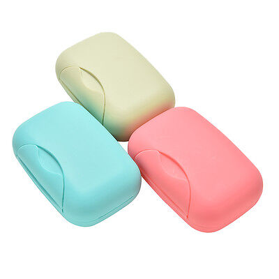 Home Bathroom Shower Travel Hiking Soap Box Dish Plate Holder Case Container SR