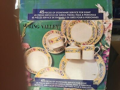 VINTAGE 1996 SUE ZIPKIN MAJESTICWARE by SAKURA SPRING VALLEY DINNER WARE SET MIB