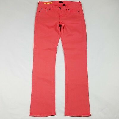 J. Crew Womens Pants Jeans Straight Stretch Matchstick Size 29 Pink Colored X8