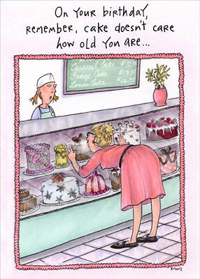 Oatmeal Studios Woman At Bakery Counter Funny Birthday Card For Her Women