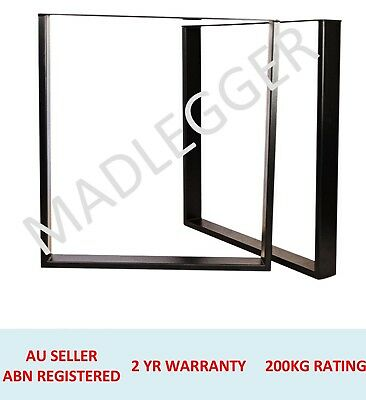 2x FRAME METAL FURNITURE LEGS - SIZE 600MM