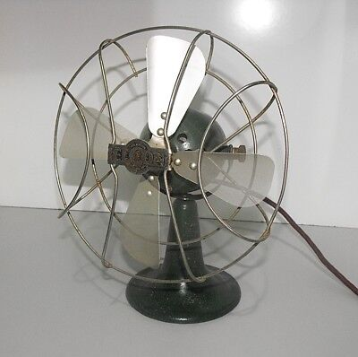 Vintage Elcon Electric Desk Fan In Great Original Condition Tested & Working.