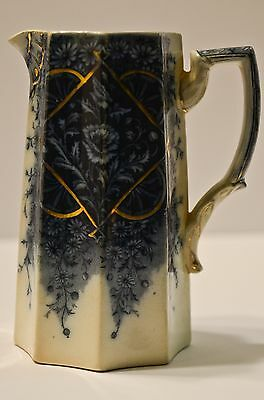 Camille Burgess And Leigh Antique Pitcher Rose Motif Rare Stunning