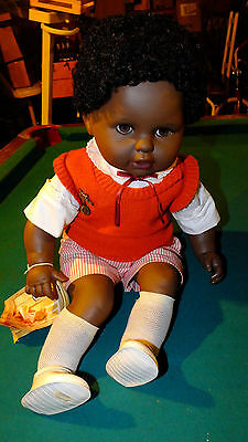 1980s Zapf Creations Little Infant African American Jeremy Doll West German MINT