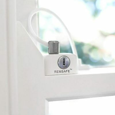 Remsafe Window Cable Lock (White) child proof safety restrictor for all windows