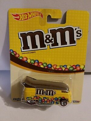 2014 Hot Wheels M&M's  Volkswagen Drag Bus Real Riders. RED LINE Factory Sealed