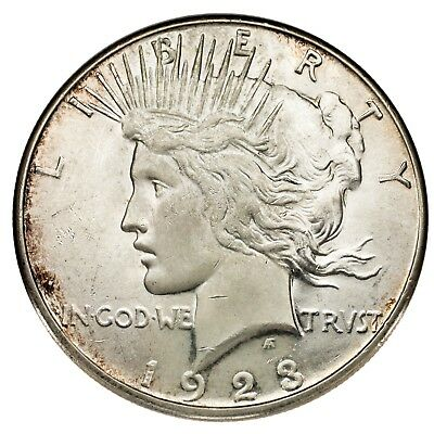 1923-S Silver Peace Dollar $1 (Choice BU Condition) Full Mint Luster!