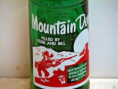 Mountain Dew; 10oz., ACL soda pop bottle; FILLED BY ESSIE AND BILL