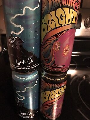 4 Tree House Brewery Brewing Beer Cans Bright Lights On + Bonus Can