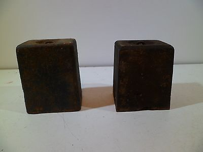 Early 8 Day Matched Cast Iron Clock Weights Jerome Boardman Terry Seth Thomas 11