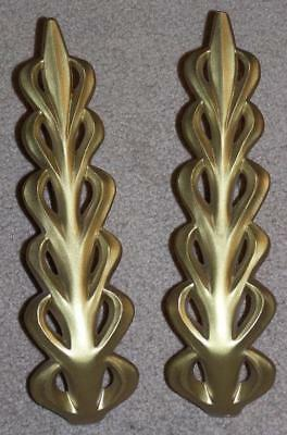 Pair Of Vintage Molded Plastic Resin Curtain Tie Backs