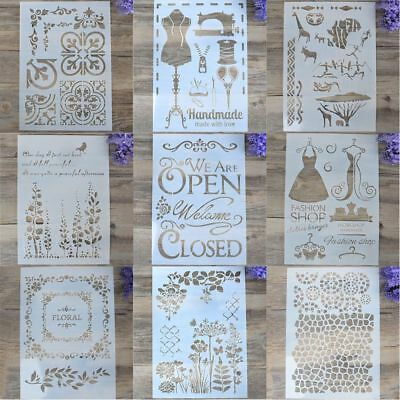 Layering Stencils Scrapbooking Walls Painting Stamps DIY Template Decorations