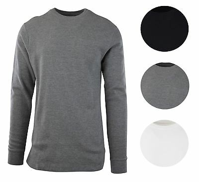 Byn Dynasty Men's Thermal Waffle Shirt Long Sleeve T-Shirt Crewneck Lounge Layer