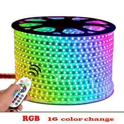 Waterproof Commercial RGB LED Strip Light 5050 Colour Changing 220V Rope string