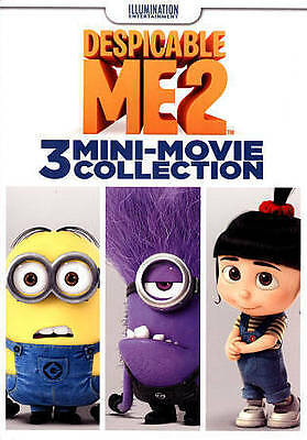 DESPICABLE ME 2 : 3 Mini-Movie Collection (DVD, 2015) MINT SHIPS FREE