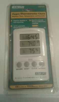 Extech Thermo-Hygrometer Max-Min Clock d2