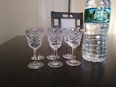 """waterford alana 6 crystal glasses handmade & imported from Ireland 3.5"""" by 1.5"""""""