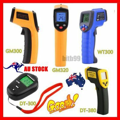 AU Handheld Digital LCD Temperature Thermometer Laser Non-Contact IR Infrared OP