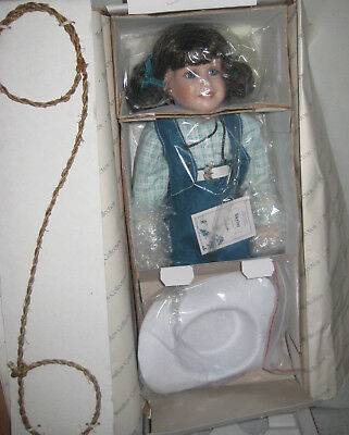 Hamilton Collection Porcelain Doll Skyler New In Box Certificate of Authenticity