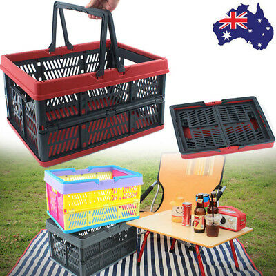 Folding Car Boot Storage Container Rigid Box Crate Bin Basket Household Supplies