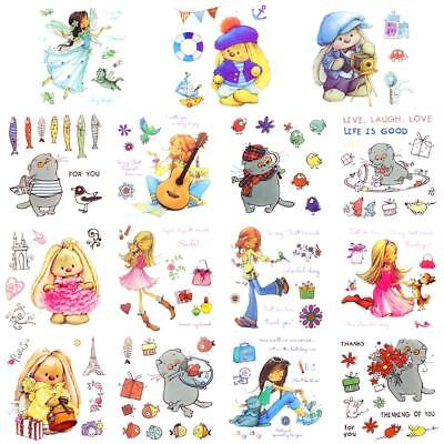 Transparent Silicone Clear Rubber Stamp Sheet Cling Scrapbooking BD #Z