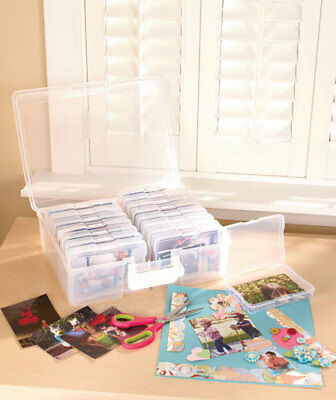 PHOTO STORAGE BOX 1600 Photo Organizer Case Picture Keepers Sort Photo Pictures