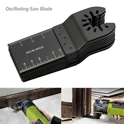 10 PCS 34mm oscillating Multi tool saw blades Carbon Steel Cutter universal USA