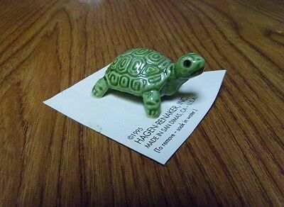"Hagen-Renaker Miniature Ceramic Mama Coin Turtle Figurine Mint on Card - 7/8"" Ta"