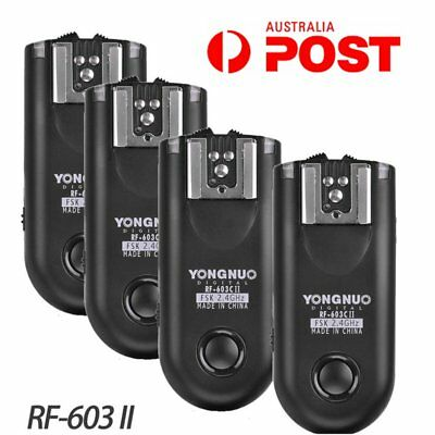 Yongnuo 4X RF-603 II Wireless flash Trigger Transceiver for Canon C1 For 550D AU