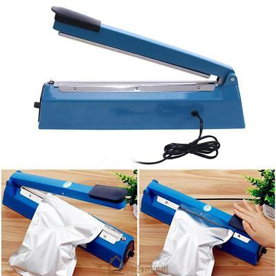 "12"" Manual Impulse Heat Sealer Poly Bag Machine Plastic Poly Bag Closer Package"