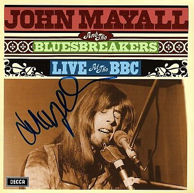 John Mayall Autogramm autograph signiert auf CD Cover Live at the BBC