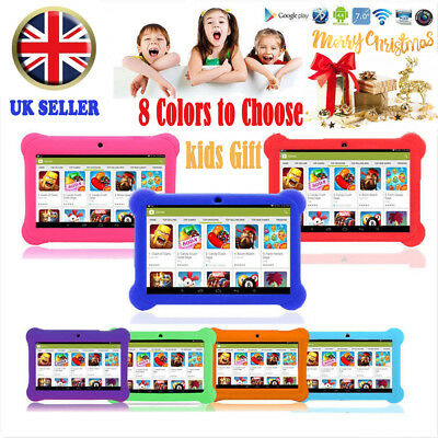 "7"" INCH KIDS ANDROID 4.4 TABLET PC QUAD CORE WIFI Camera CHILDREN CHILD GIFT UK"